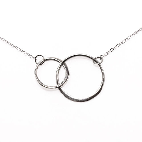 Minimalist Double Circle Necklace