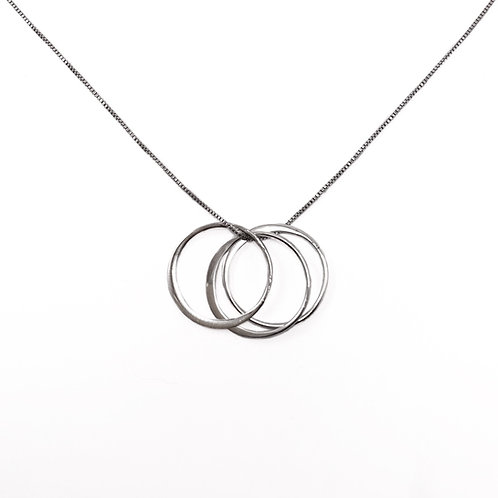 Minimalist 3 Rings Necklace Large