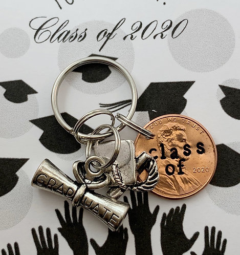 2020 Penny Keychain for Graduate