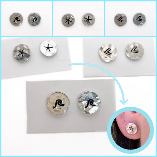 tiny silver stud earrings