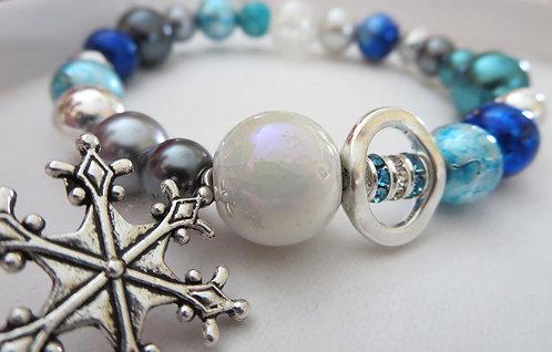 Frozen Inspired Snowflake Bracelet
