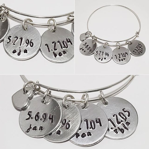Custom Mothers Bracelet STERLING