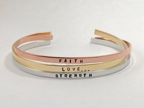 Weight Loss Jewelry, Custom Stamped Bracelet