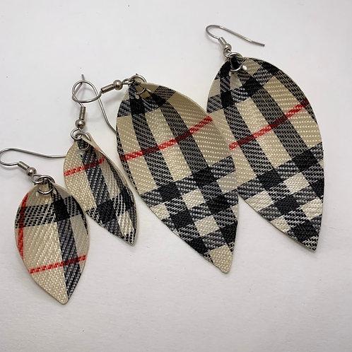 Burberry Plaid Earrings