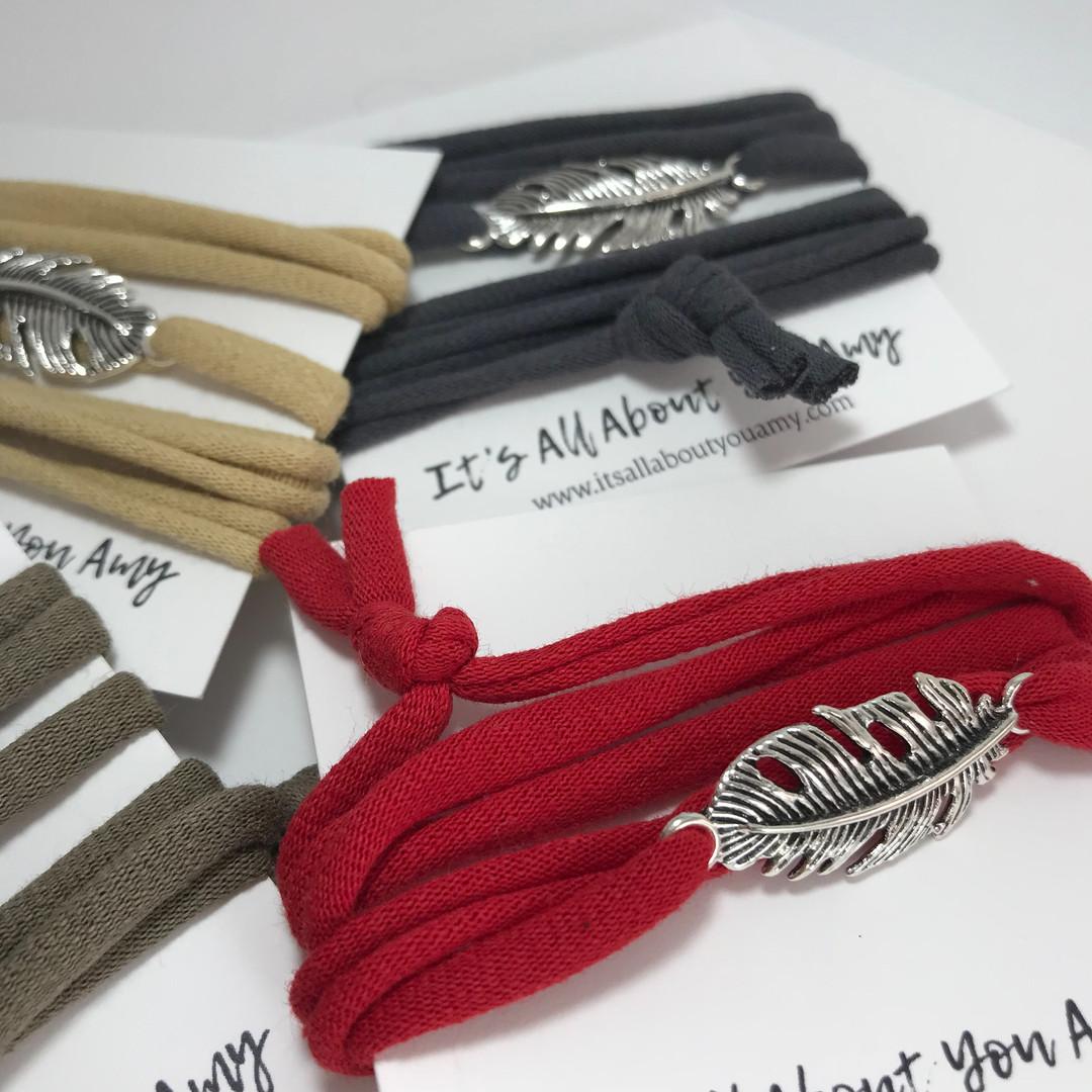 Feather bracelets