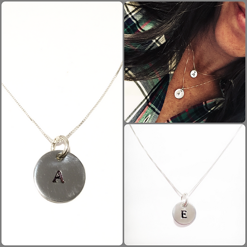 Custom Initial Necklace K-T