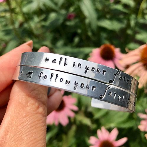Follow Your Faith Cuff Bracelet