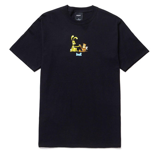 "CAMISETA HUF ""BEST FRIENDS"" BLACK"