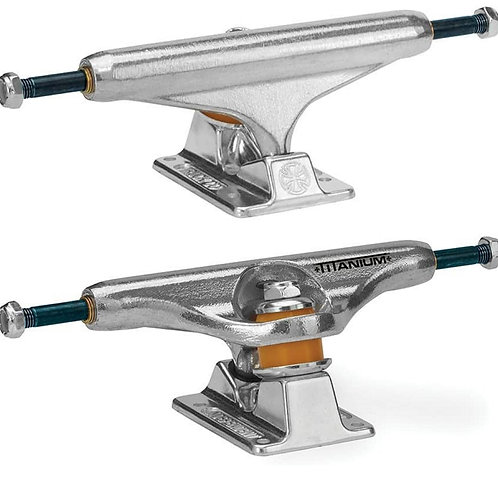 "TRUCKS INDEPENDENT ""POLISHED HOLLOW FORGED TITANIUM"" (PAR) 159"