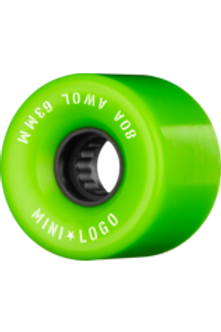 "RUEDAS MINI LOGO ""A.W.O.L."" 63MM 80A GREEN"