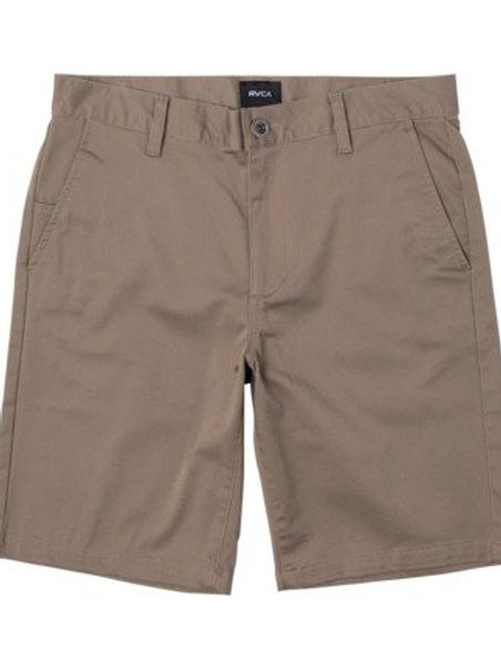 "PANTALON CORTO RVCA ""WEEKEND STRETCH - ELÁSTICO"" DARK KHAKI"