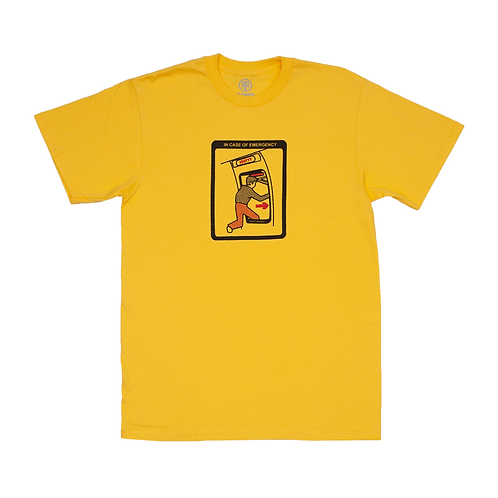 "CAMISETA CLEAVER ""EMERGENCY"" YELLOW"