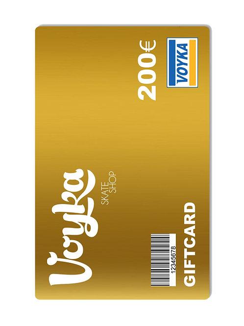 TARJETA REGALO / GIF CARD 200€ - GOLD