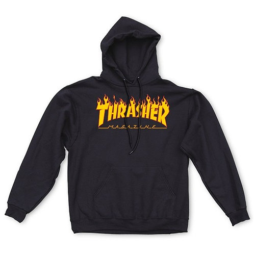 "SUDADERA THRASHER ""FLAME"" BLACK"