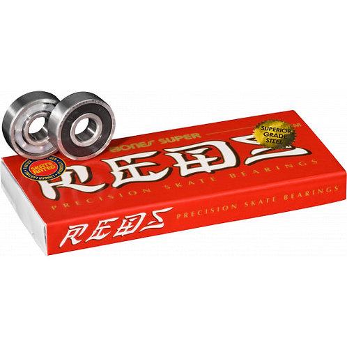 """RODAMIENTOS BONES """"SUPER REDS"""" 8 PACK"""