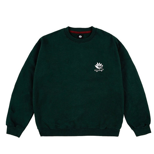 "CREWNECK MAGENTA ""CRUISE"" GREEN"
