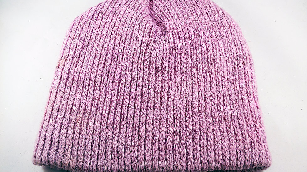 Shepherds' Hat: Knitted Wool, Natural Cochineal Cranberry, One Size Fits Most.