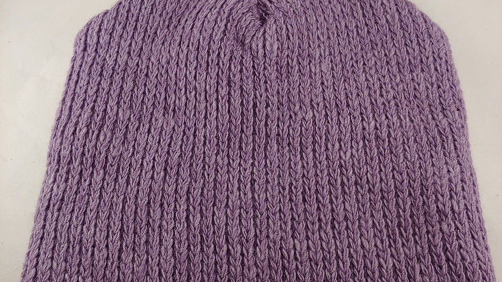 Shepherds' Hat: Knitted Wool, Natural Logwood Purple, One Size Fits Most.