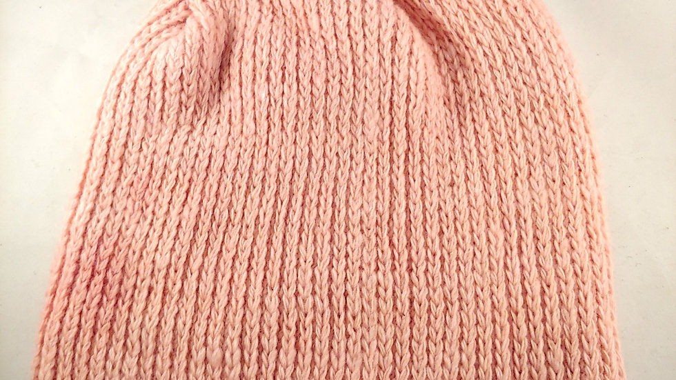 Shepherds' Hat: Knitted Wool, Natural Cochineal & Madder, One Size Fits Most.