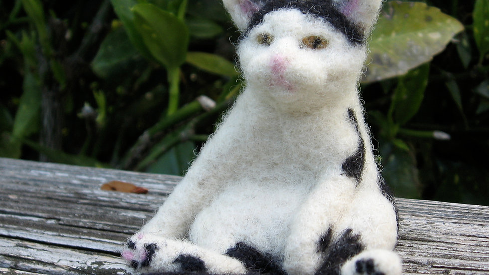 Custom Wool Sculptured Cat Portrait: Deposit to begin. Final $250 when complete