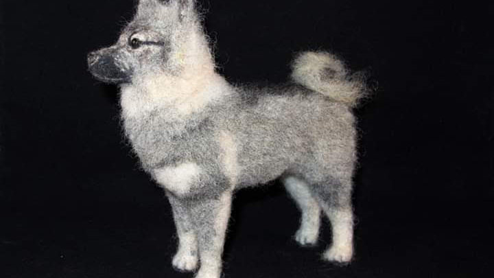 Custom Wool Sculptured Dog Portrait : Deposit to begin. Final $250 when complete