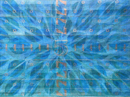 Printed + Stitched Decorative Paper