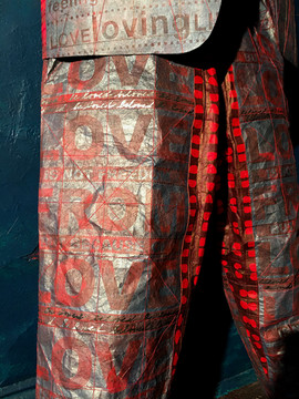 Armour Clad in LOVE: pant detail
