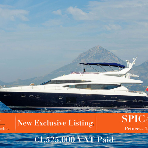 The most distinguished yacht on the market - SPICA 2011 Princess 78 - New Exclusive Listing