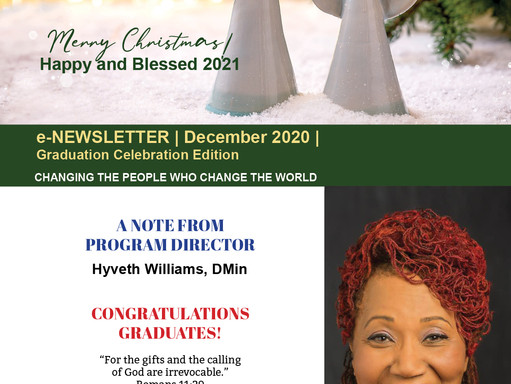 December 2020 Newsletter/Graduation Edition