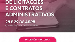 """O seminário """"Reflexões sobre A NOVA LEI DE LICITAÇÕES E CONTRATOS ADMINISTRATIVOS"""""""