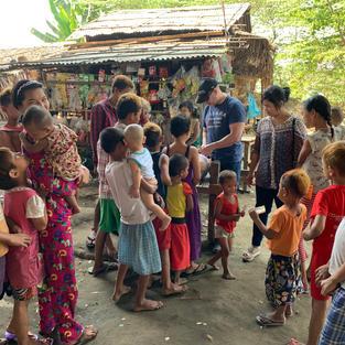 Adam visiting homeless in Myanmar