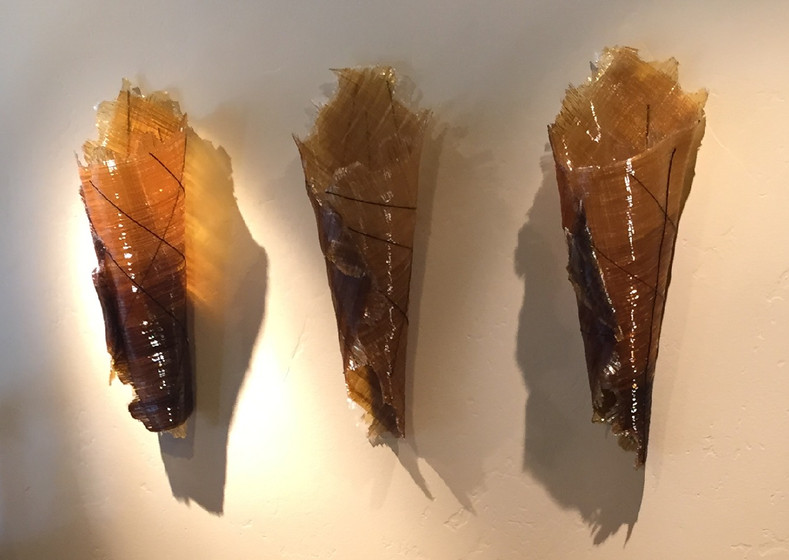 Amber & Brown Fossil Trio