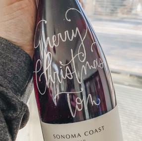 Hand Engraved Personalized Wine Bottle b