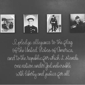 Custom Hand Lettered Pledge of Allegianc