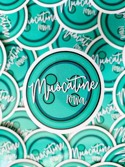 Muscatine, Iowa Button Sticker
