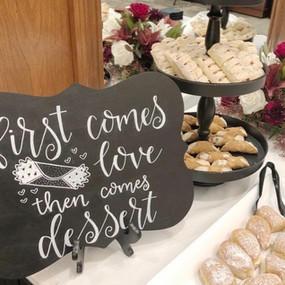 Custom Hand Lettered Dessert Chalkboard
