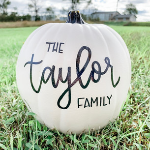 Personalized Hand Lettered 9 Inch Round