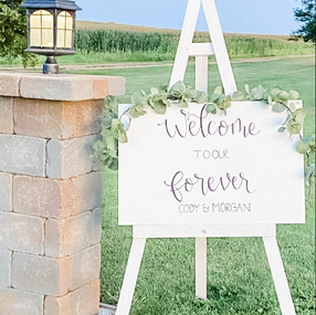 Personalized Hand Lettered Welcome Weddi