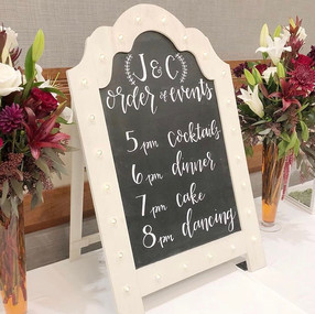 Personalized Order of Events Wedding Rec