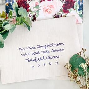 Hand Lettered Wedding Envelope Addressing by Letters from Elliott.JPG