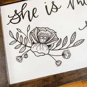 Custom Illustrated and Hand Lettered Woo