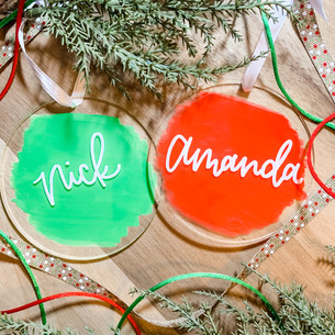 Personalized Hand Lettered Clear Acrylic