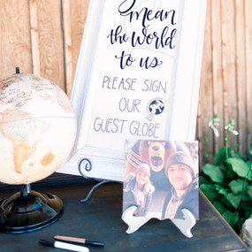 Custom Hand Lettered Guest Book Sign by