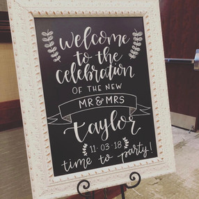 Personalized Hand Lettered Calligraphy W