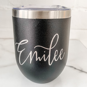 Hand Engraved Personalized 12oz. Stainle