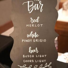 Custom Hand Lettered Chalkboard Board Ba