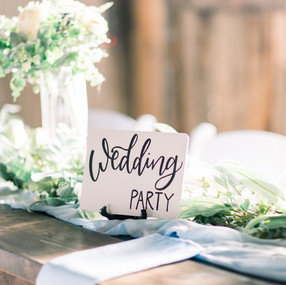 Hand Lettered Wedding Party Table Sign b