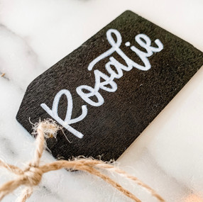 Hand Lettered Chalkboard Gift Tag by Let