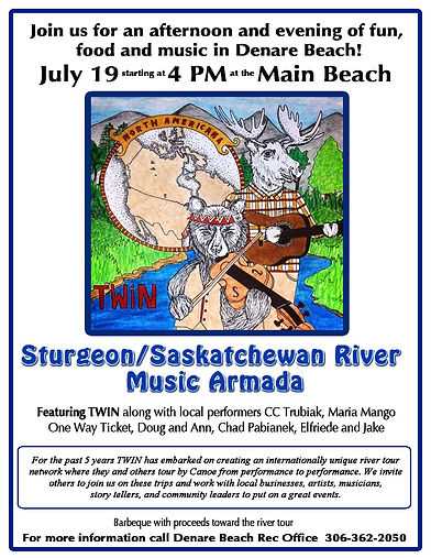 twin sturgeon river music armada canoe tour 6