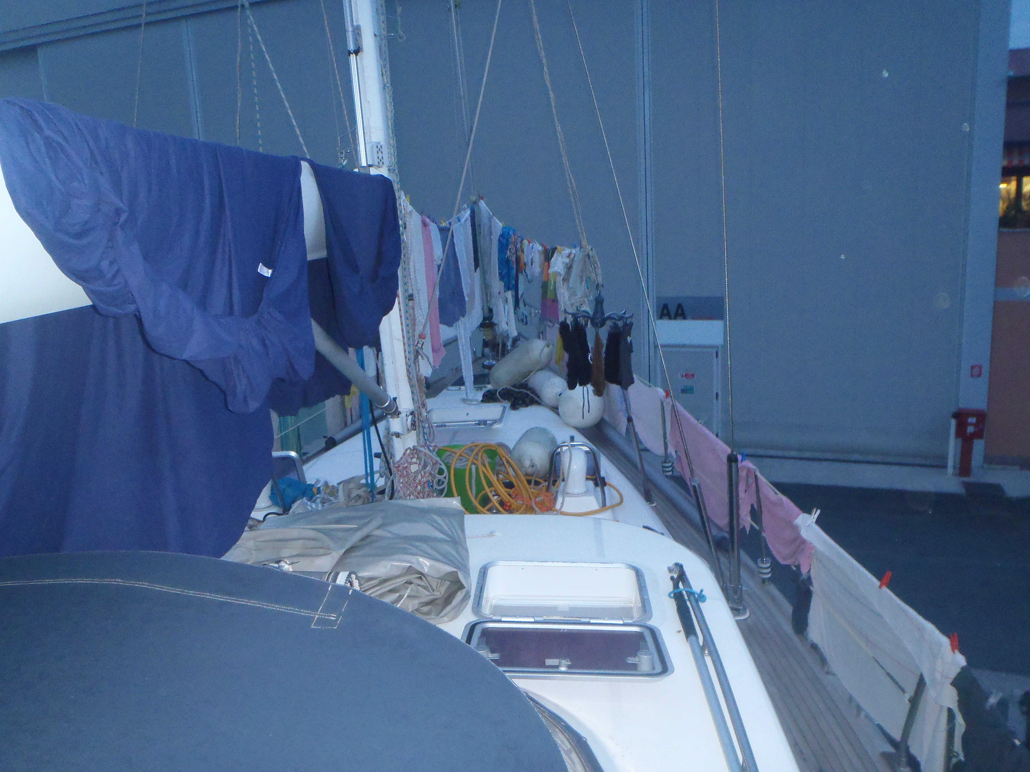 Vasketøj efter vi er kommet på land